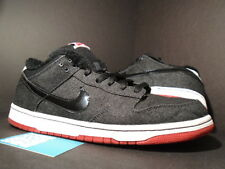 Nike Dunk Low Premium SB LARRY PERKINS CHIRPING BIRDS BLACK RED WHITE DENIM 11.5