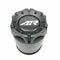 "American Racing 4.25"" Push Thru Cap Satin Black Stainless Steel for 5x5.5 6x5.5"