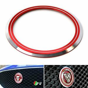 Red Surrounding Ring Trim For Jaguar F-Pace XE XF XJ Front Grille Feline Emblem