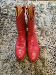 Red Justin Roper Western Cowgirl Cowboy Boots Ladies Size 7 A L3055