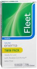 Fleet Saline Enema Twin Pack 9 oz (Pack of 2)