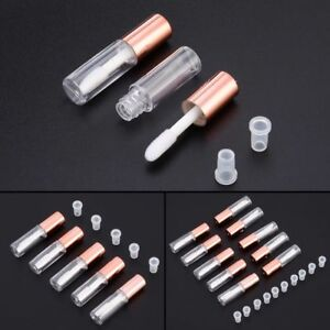 5/10x 1.2ml Mini Plastic Empty Clear Lip Gloss Tube Balm Makeup Bottle Container