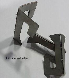 Abstandshalter 3 Stk. für eine Feuerplatte/Feuerstelle/Grilltonne etc