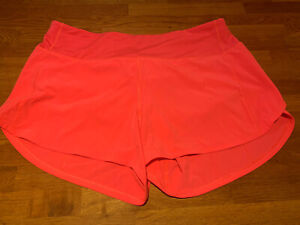 Lululemon Running Shorts Hot Shocking Pink Size 10 Tall Long Great Condition