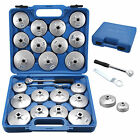 23pcs Cup Type Aluminum Oil Filter Wrench Set Socket Removal Garage Tool Cap UK