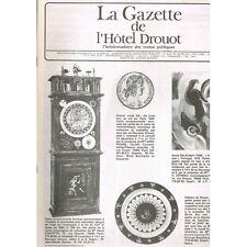 La GAZETTE de l'Hôtel DROUOT 1983 N°38 HORLOGERIE XVIIè Locomotion Art d'Orient