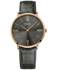 Hugo Boss Men's Jackson Grey Leather Strap Watch - 1513372