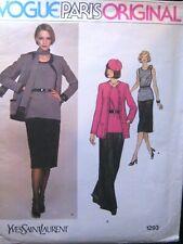Vogue Paris Original Pattern 1293 Yves Saint Laurent
