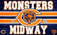 Chicago Bears NFL Monsters Midway Flag 3x5 ft Sports Banner Man-Cave Garage