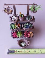 Doll Roadside Miniature Mixed Vegetable Set Food Wholesale Wood Stand Baskets