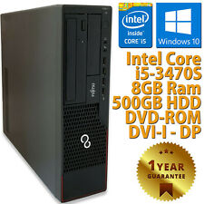 PC COMPUTER DESKTOP RICONDIZIONATO E910 CORE i5-3470S RAM 8GB HDD 500GB WIN 10