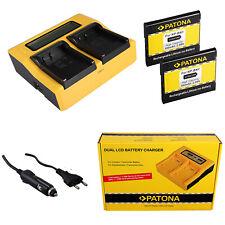 2x Batteria Patona + caricabatteria professionale DUAL LCD per Sony DSC-TX55