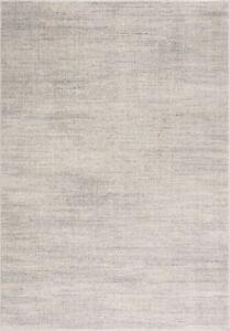 Small Large Cheap Rug Living Room Soft Dense Pile Plain Light Grey - Cream New