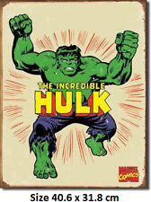 The Incredible Hulk Marvel RUSTIC Tin Sign 1438  Licensed Made In USA