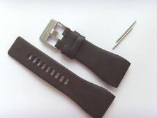 DIESEL Original Ersatzband Lederarmband DZ7123 Uhrband braun 33 mm watch strap