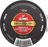 New KIWI Shoe Polish, Black, 1 Metal Tin, 2.5 oz