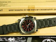 "Men's Watch Infantry Watch Co. IF-009-R-R ""INFILTRATOR"" RED #s, RUBBER BAND"