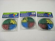 Nip Lot Of 3 Learning Resources Desk Overhead 4 Color Spinners