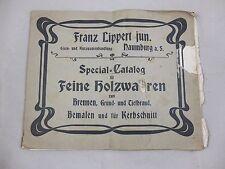 alter Katalog Lippert Naumburg Jugendstil Möbel Kerbschnitzerei Holzwaren