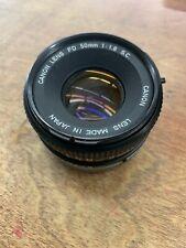 canon fd 50mm 1:1.8 lens