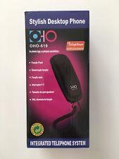 Teléfono Fijo Con Cable OHO-619  Redial Flash Mute Funciones De Llamada NEGRO