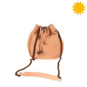 RRP €880 PHILOSOPHY DI LORENZO SERAFINI Leather Bucket Bag HANDMADE Fox Detail