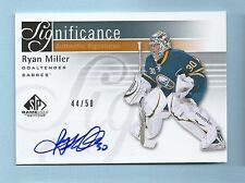 RYAN MILLER 2011/12 SP GAME USED SIGNIFICANCE AUTOGRAPH AUTO /50