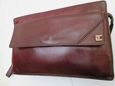 -AUTHENTIQUE  Sacoche pochette TED LAPIDUS  cuir   (T)BEG   bag vintage 60's