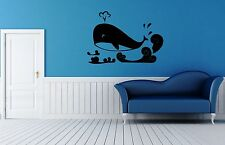 Wall Sticker Vinyl Decal Whale Ocean Sea Marine Bathroom ig1218