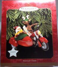 HALLMARK SANTA MOTORCYCLE CHUMS LIGHTED 1997 KEEPSAKE ORNAMENT CHRISTMAS NIB