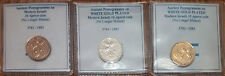 24k GOLD - WHITE GOLD - Copper 10 Agorot  Israeli Israel Coin from the Holy Land