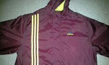 Adidas Hooded Jacket Maroon and Yellow Stripes Mens Youth XL Basketball