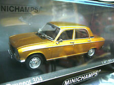 Peugeot 304 berline Gold met1972 Minichamps pma 1/1008 pc 1:43