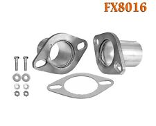 """2 1/4"""" OD Universal QuickFix Exhaust Oval Flange Repair Pipe Kit Gasket"""