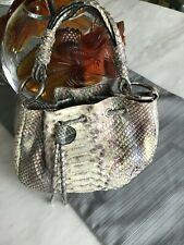 Retta Wolff Evening Small Dyed Python Shoulder Handbag