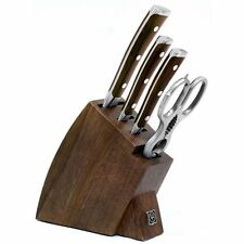 Wusthof Ikon Blackwood 5pc Studio Knife Block Set - Walnut