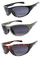 Inner Bifocal Vision Sunglasses Reading Sunglasses Sport Wrap Smoke Lens UV400