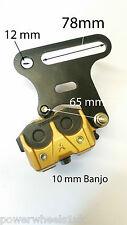 CA015 REAR BRAKE CALIPER PIT DIRT BIKE 110cc 125cc WITH PADS & MOUNT CALIPER