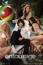 Entourage Vincent Chaise Poolside With Sexy Women In Bikinis Poster - 12x18
