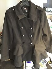 MISS SIXTY M60 Poly Mix Peacoat Jacket/Coat Women's Black Size L, EX Condition