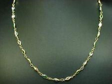18kt 750 Oro Amarillo Collar con 2,20ct Topacio, Turmalina & Diopsid