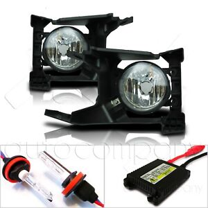 For 2018 Forester Glass Lens Fog Lights w/Wiring Kit & HID Kit - Clear