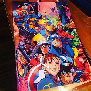 Marvel Super Heroes Vs Street Fighter Poster, 13 X 19