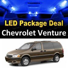 For 2000 - 2004 2005 Chevrolet Venture LED Lights Interior Package Kit BLUE 8PCS
