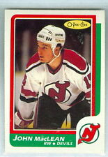 JOHN MacLEAN RC 1986-87 O-Pee-Chee OPC '86 Rookie Card #37 NMM NJ Devils d
