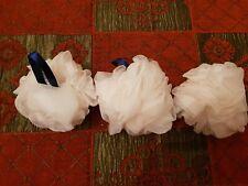 3 X WHITE SHOWER PUFFS