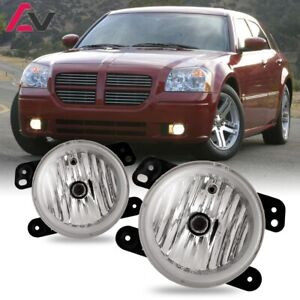 For Dodge Magnum 05-08 Clear Lens Pair Bumper Fog Light Lamp OE Replacement DOT