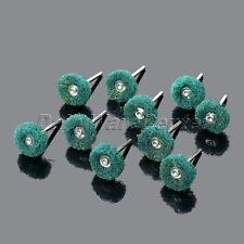 10Pcs Polishing Rotary Buffer Pads Grinding Wheel + Abrasive Shank for Craft Use