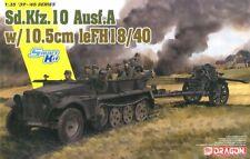 1/35 Dragon Sd.Kfz.10 1t Half-track & 10.5cm le.FH.18/40 Howitzer  #6939