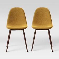 """BRAND NEW PROJECT 62 COPLEY (SET OF 2) 33"""" DINING CHAIRS MUSTARD YELLOW"""